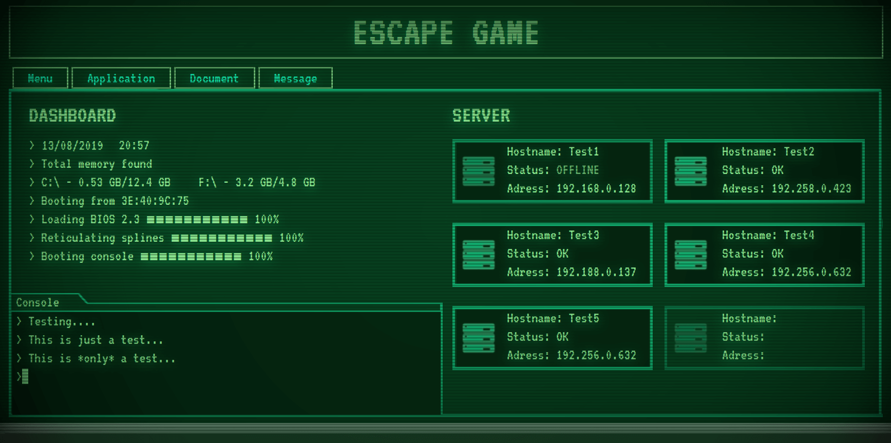 image écran Escape Game