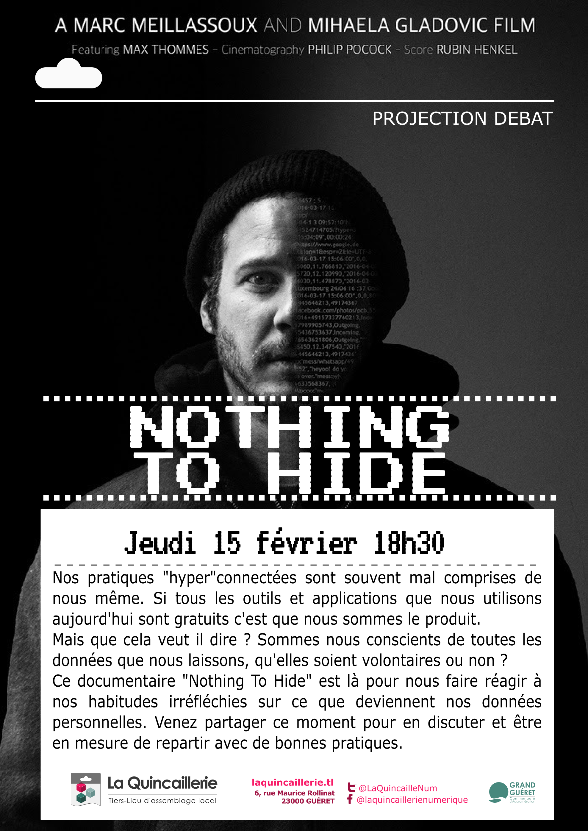 Projection débat documentaire Nothing to hide